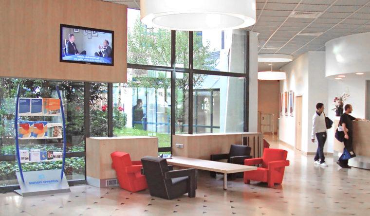 Aménagement du hall d'accueil du site SANOFI AVENTIS